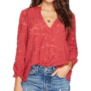New! 🍀Lucky Brand Peasant Blouse Top